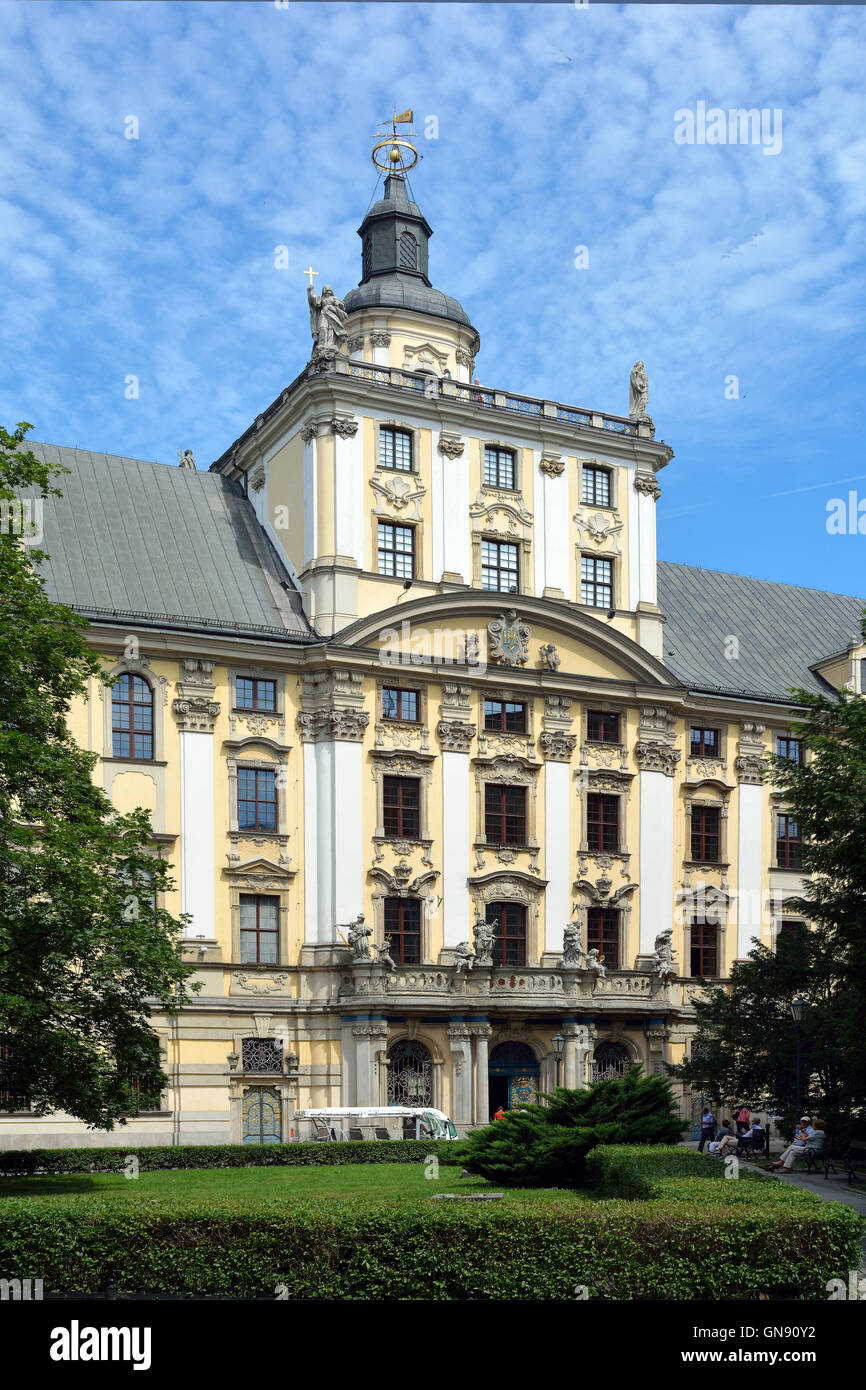Building of the University in Wroclaw in Poland. - Stock Image