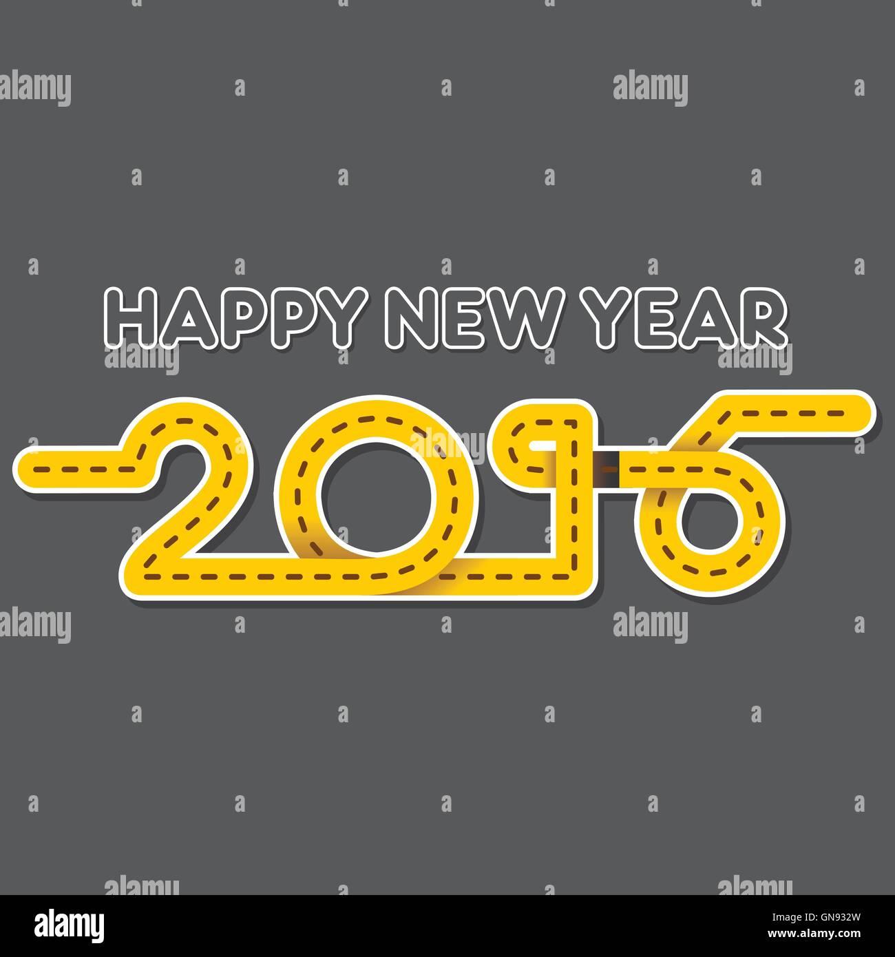 Happy New Year 2016 Black Stock Photos Happy New Year 2016 Black