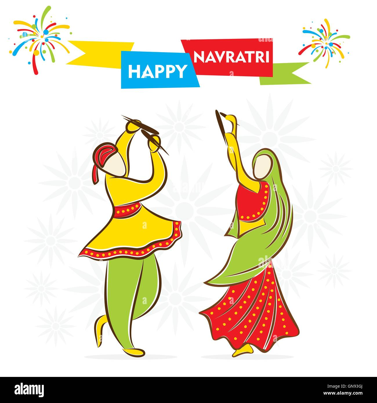 Man and woman dancing art illustration, Dandiya Raas Dance Garba , others  transparent background PNG clipart   HiClipart