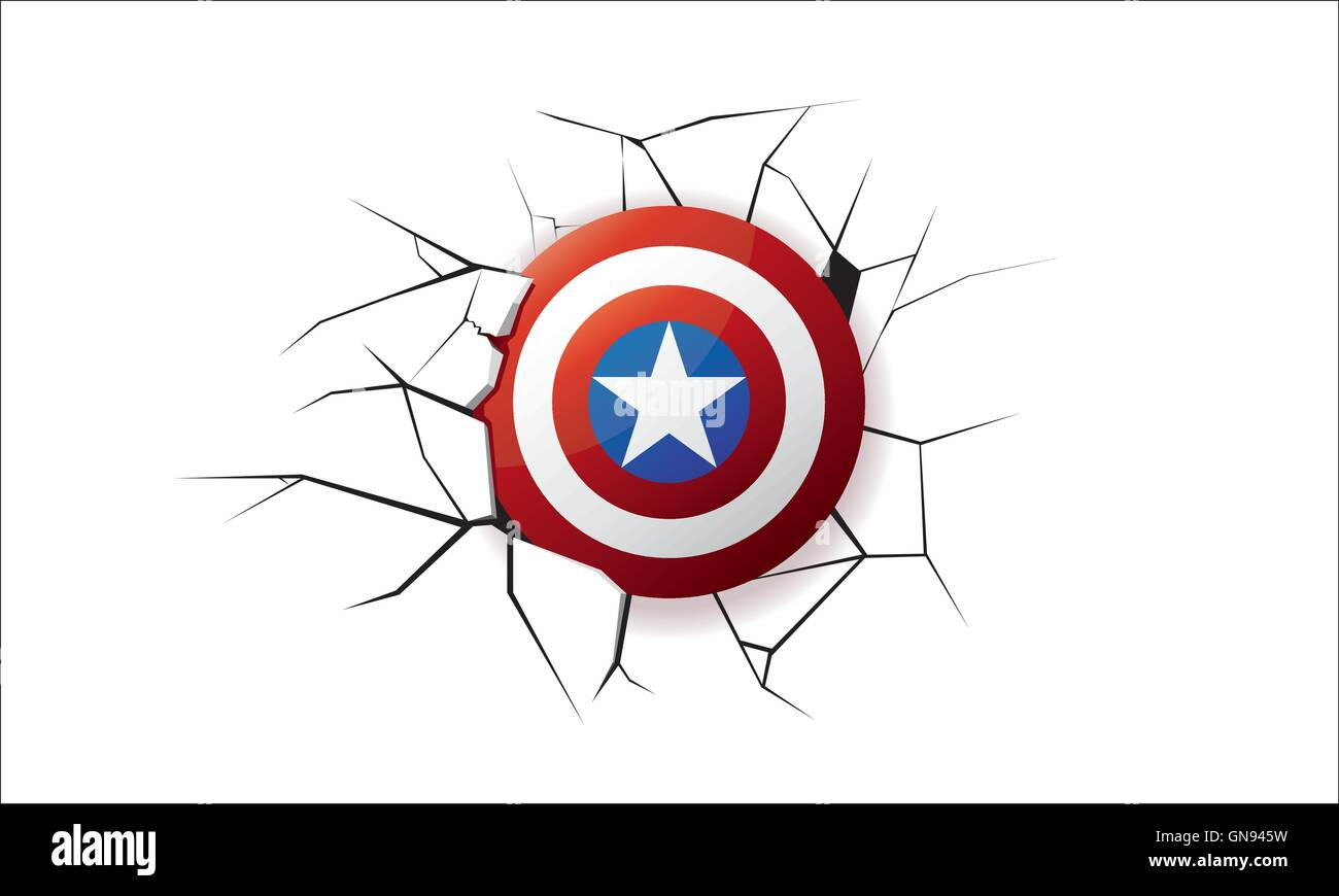 America Shield Earthquake - Stock Image