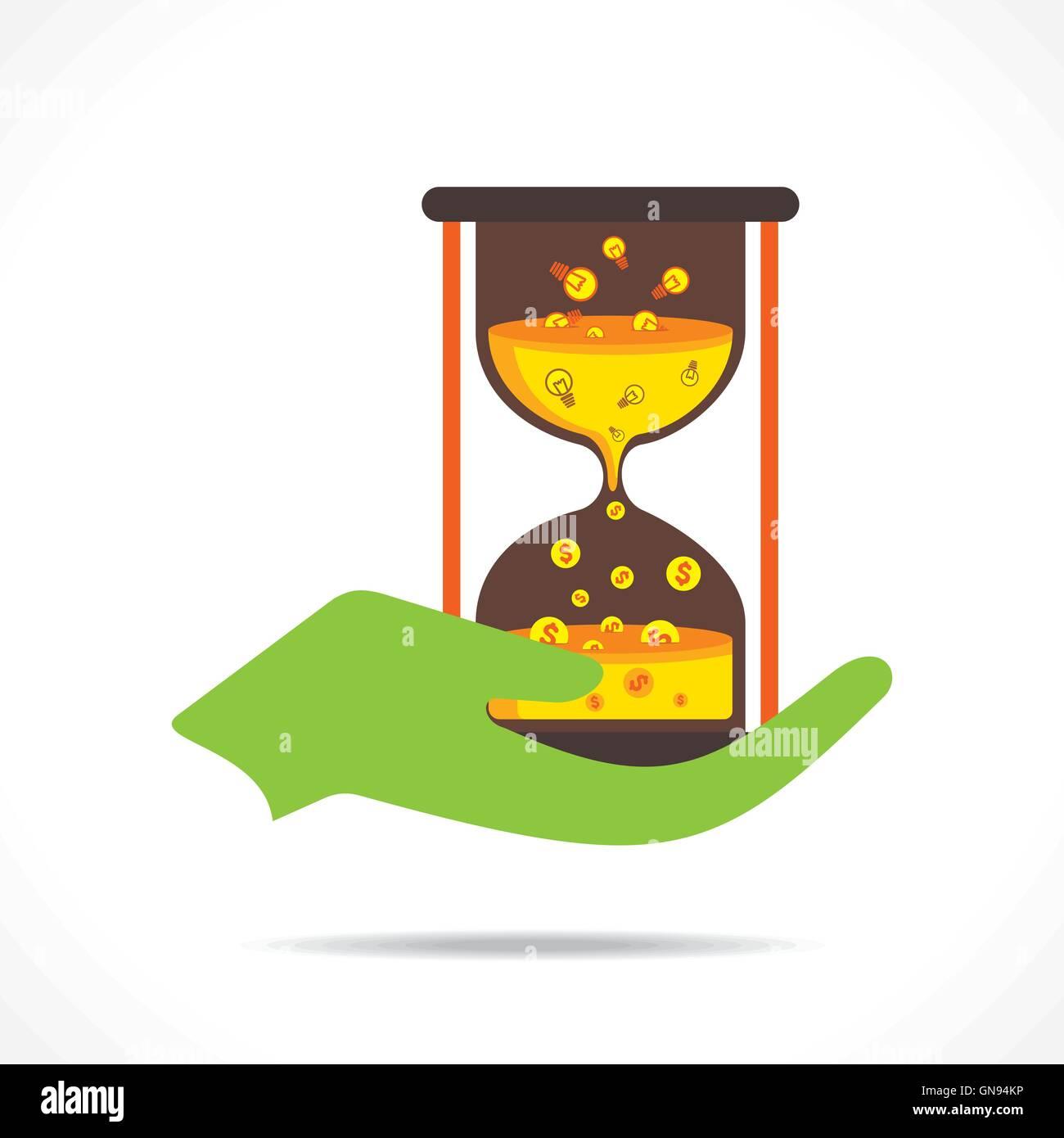 creative concept idea convert into money with respect of