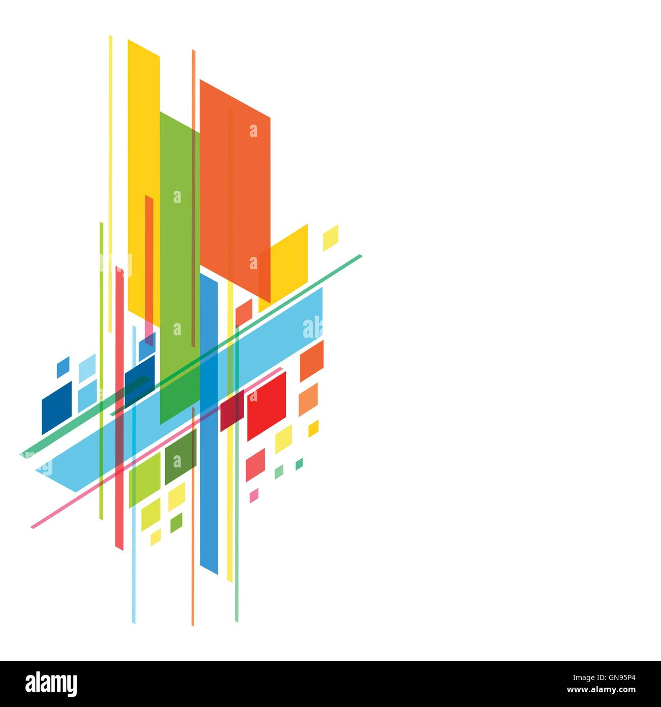 abstract colorful banner background design vector stock vector art
