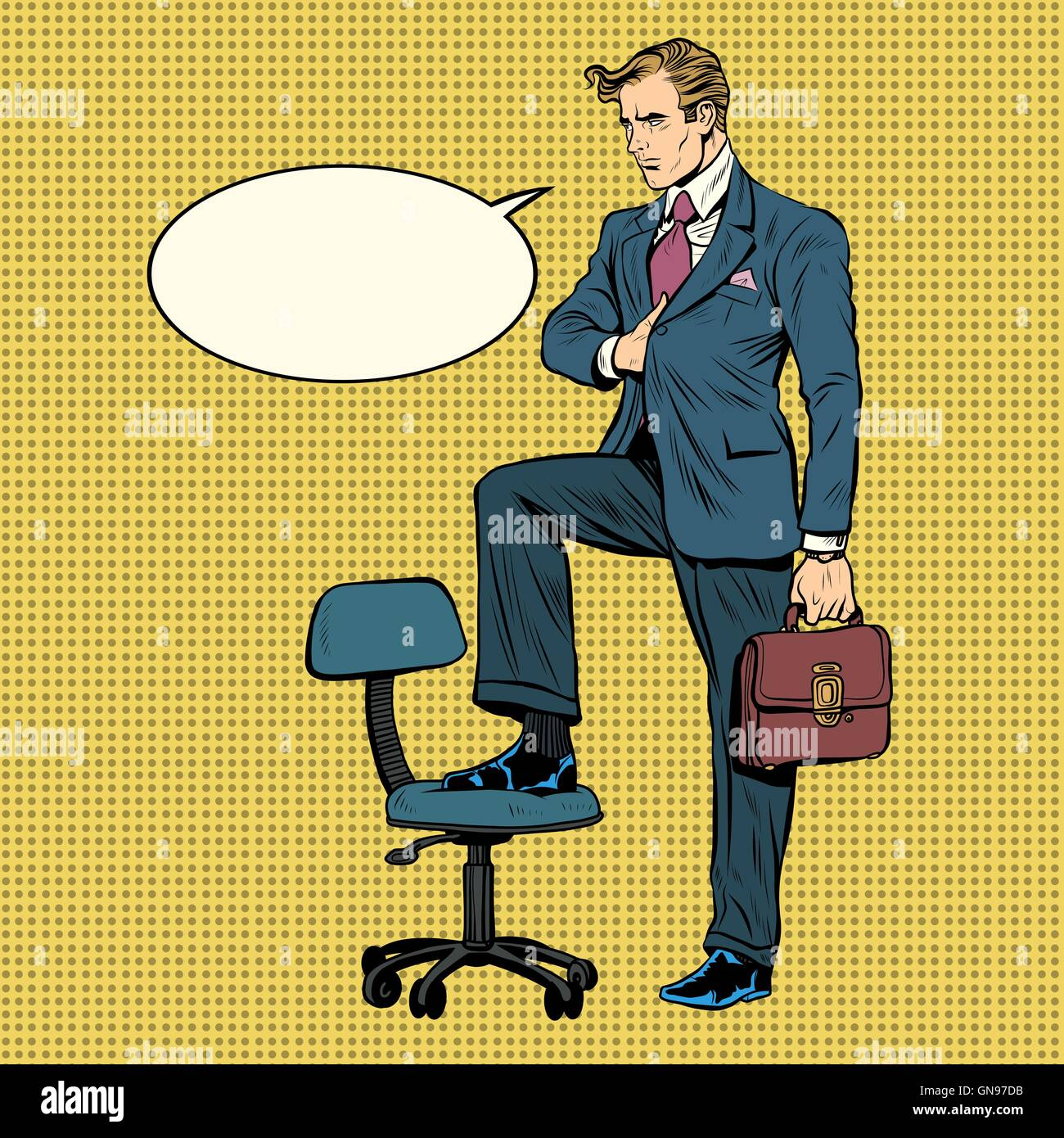 businessman in the pose of Napoleon - Stock Vector