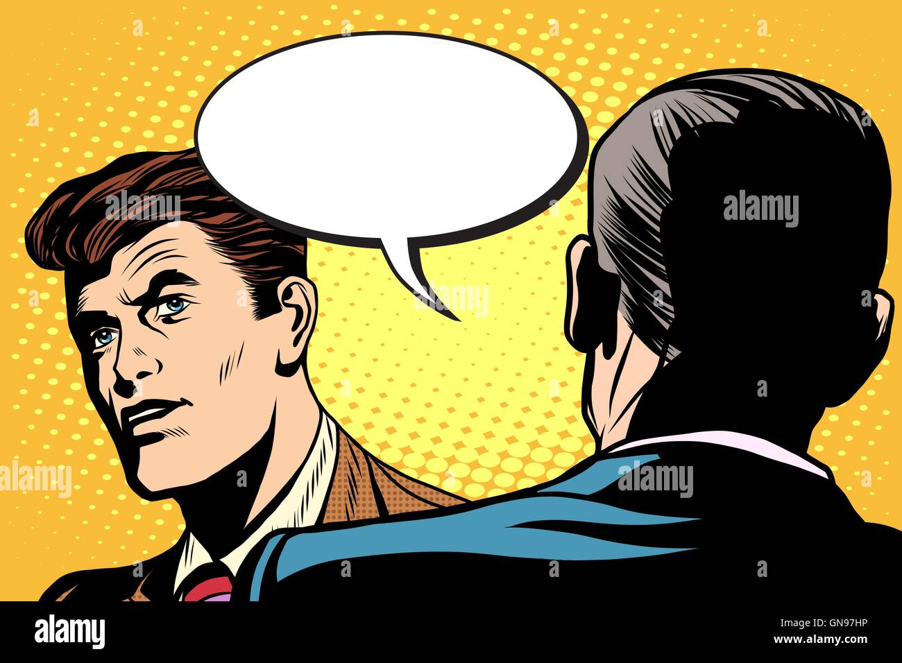 Business dialogue, negotiations - Stock Vector