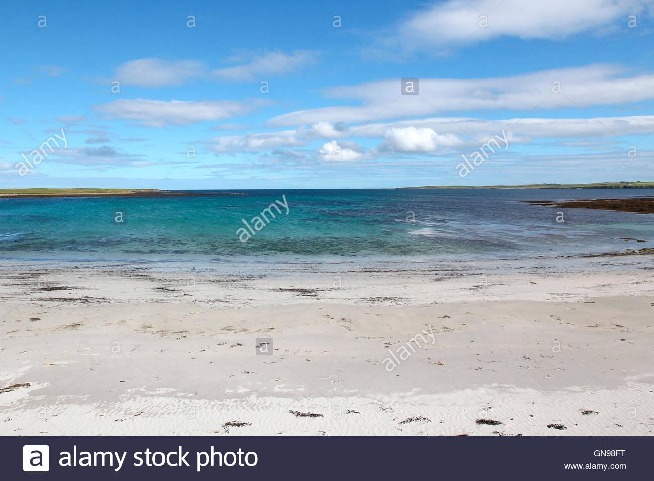 beach near whitehall, stronsay, orkney islands, scotland, united kingdom - Stock Image