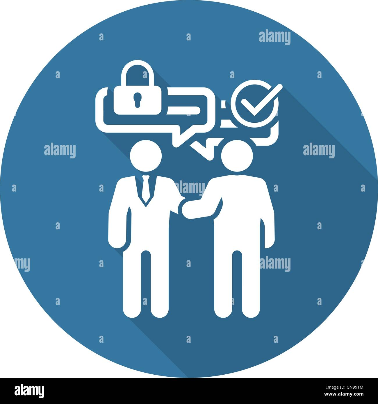 Secure Deal Icon. Flat Design. - Stock Image