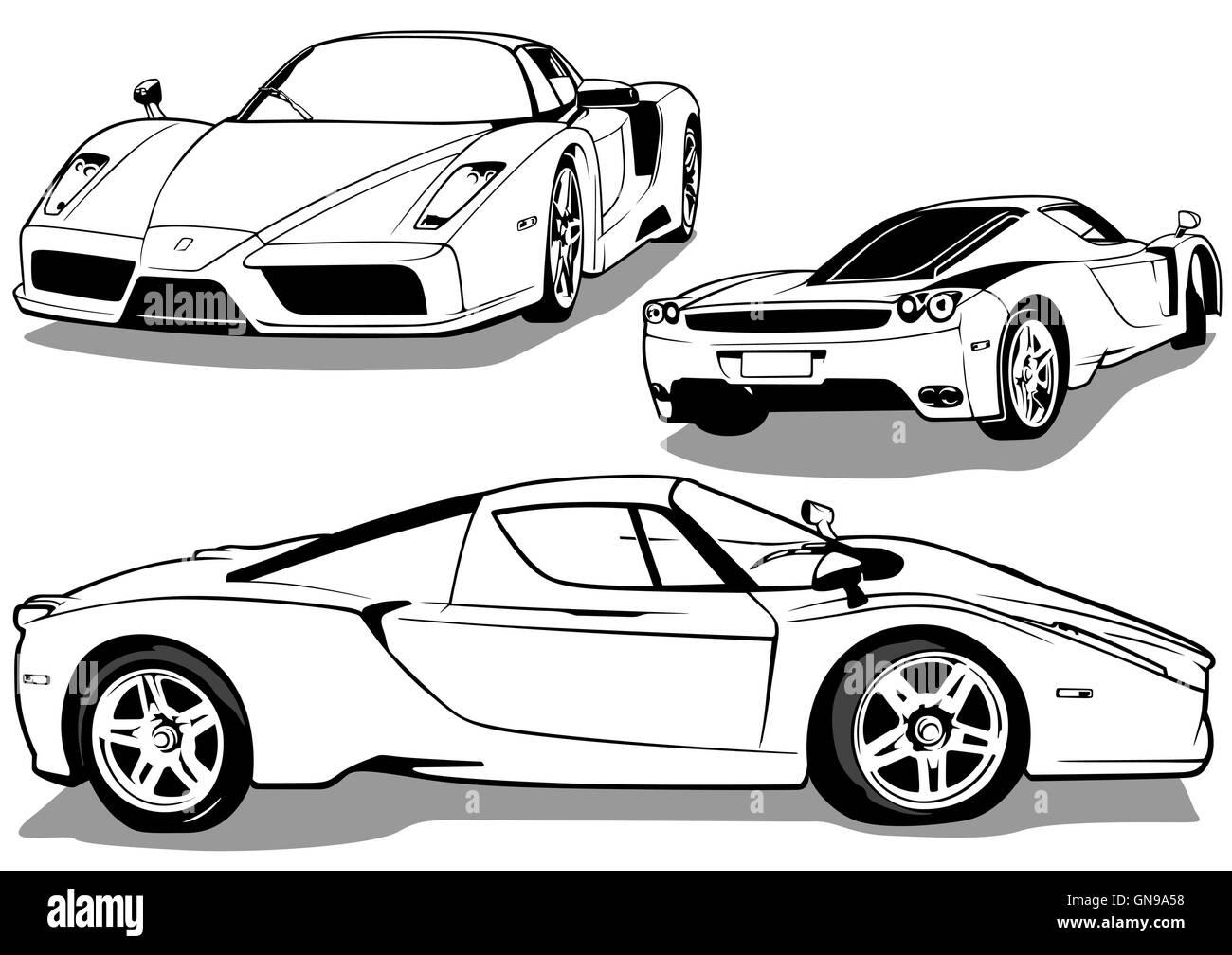 Sport Car - Stock Image
