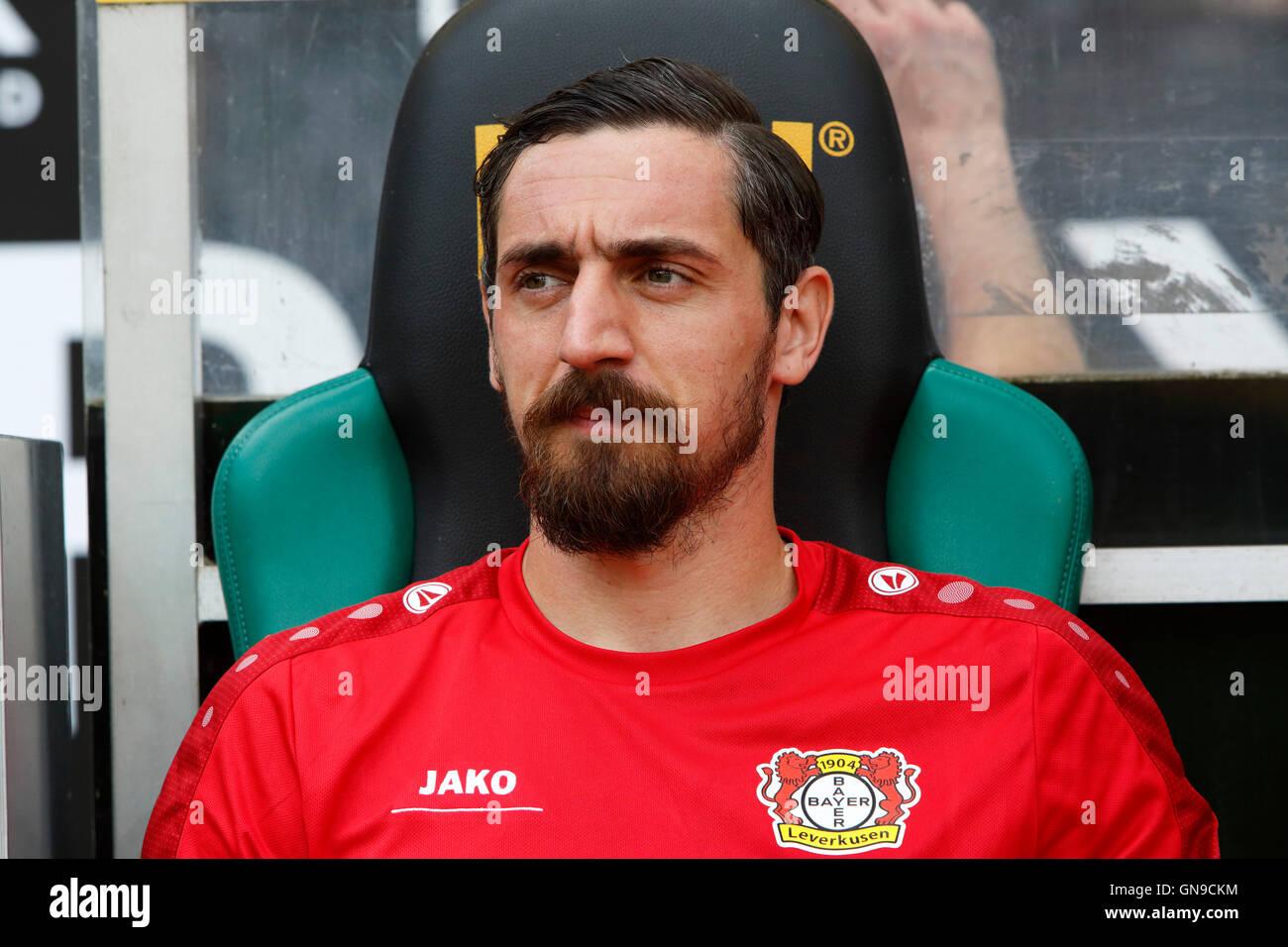 sports, football, Bundesliga, 2016/2017, Borussia Moenchengladbach versus Bayer 04 Leverkusen 2:1, Stadium Borussia - Stock Image