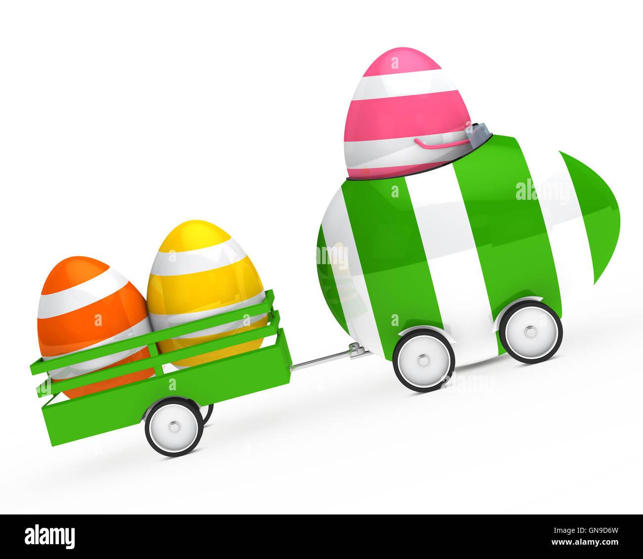 easter egg figure Stock Photo