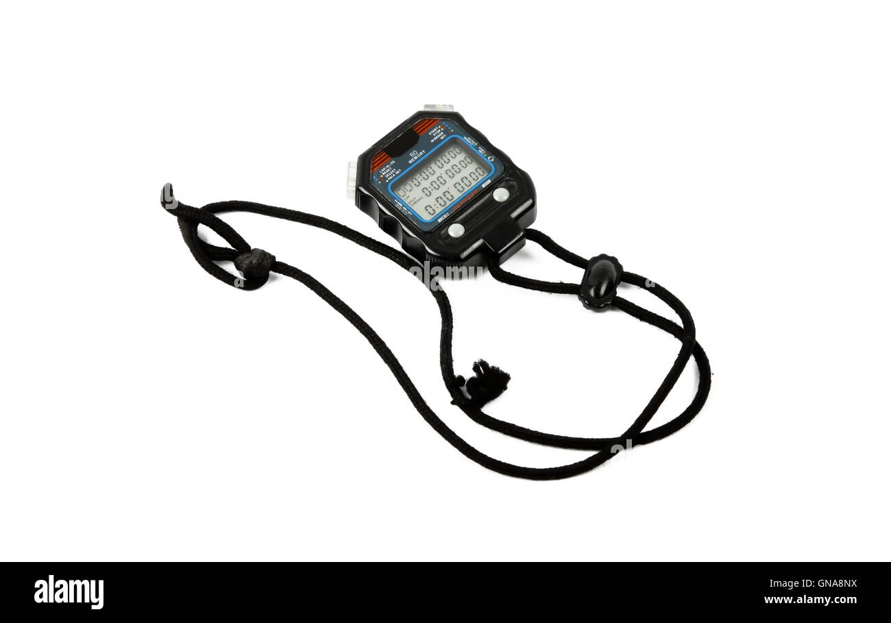 digital stop watch - Stock Image