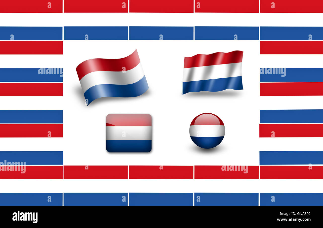 Flag of Holland. Flag of Netherlands. icon set. flags frame Stock ...