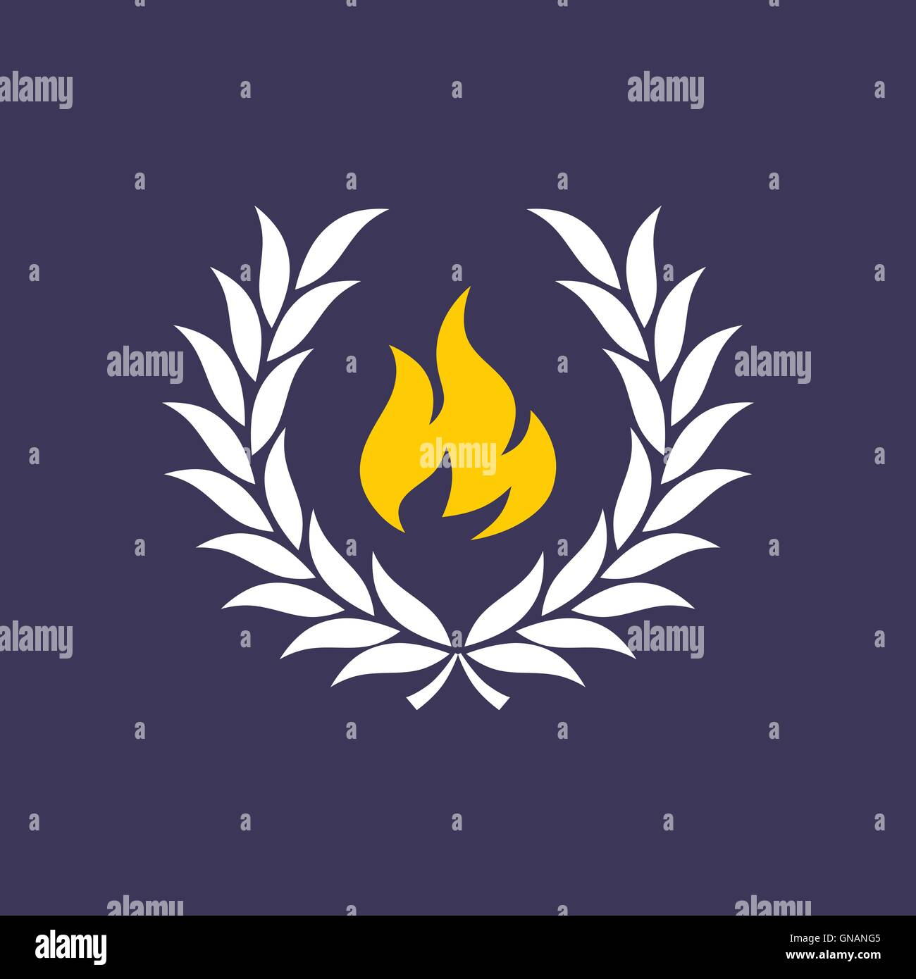 wreath with fire Stock Vector