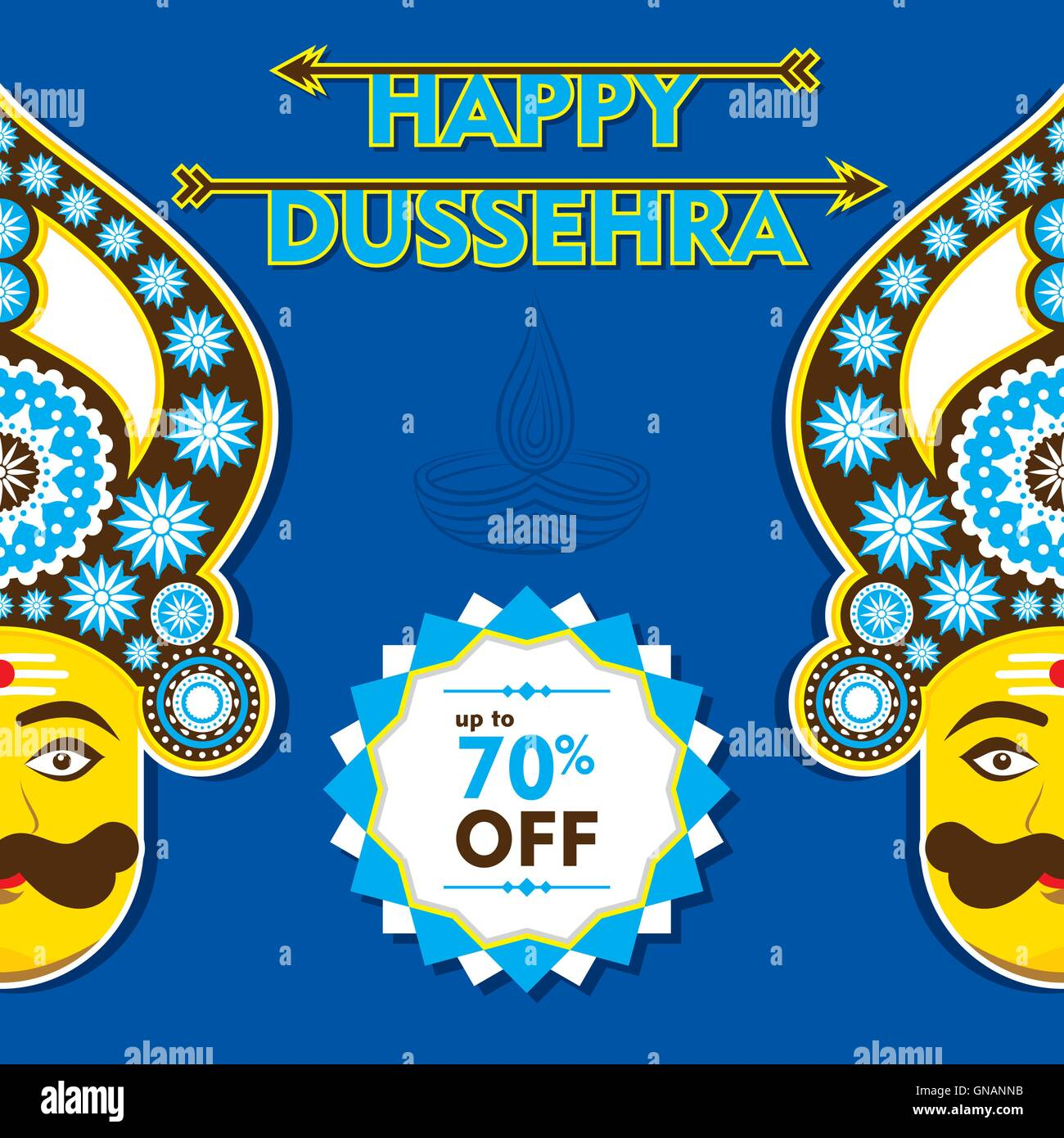 Happy dussehra greeting card or poster design stock vector art happy dussehra greeting card or poster design m4hsunfo