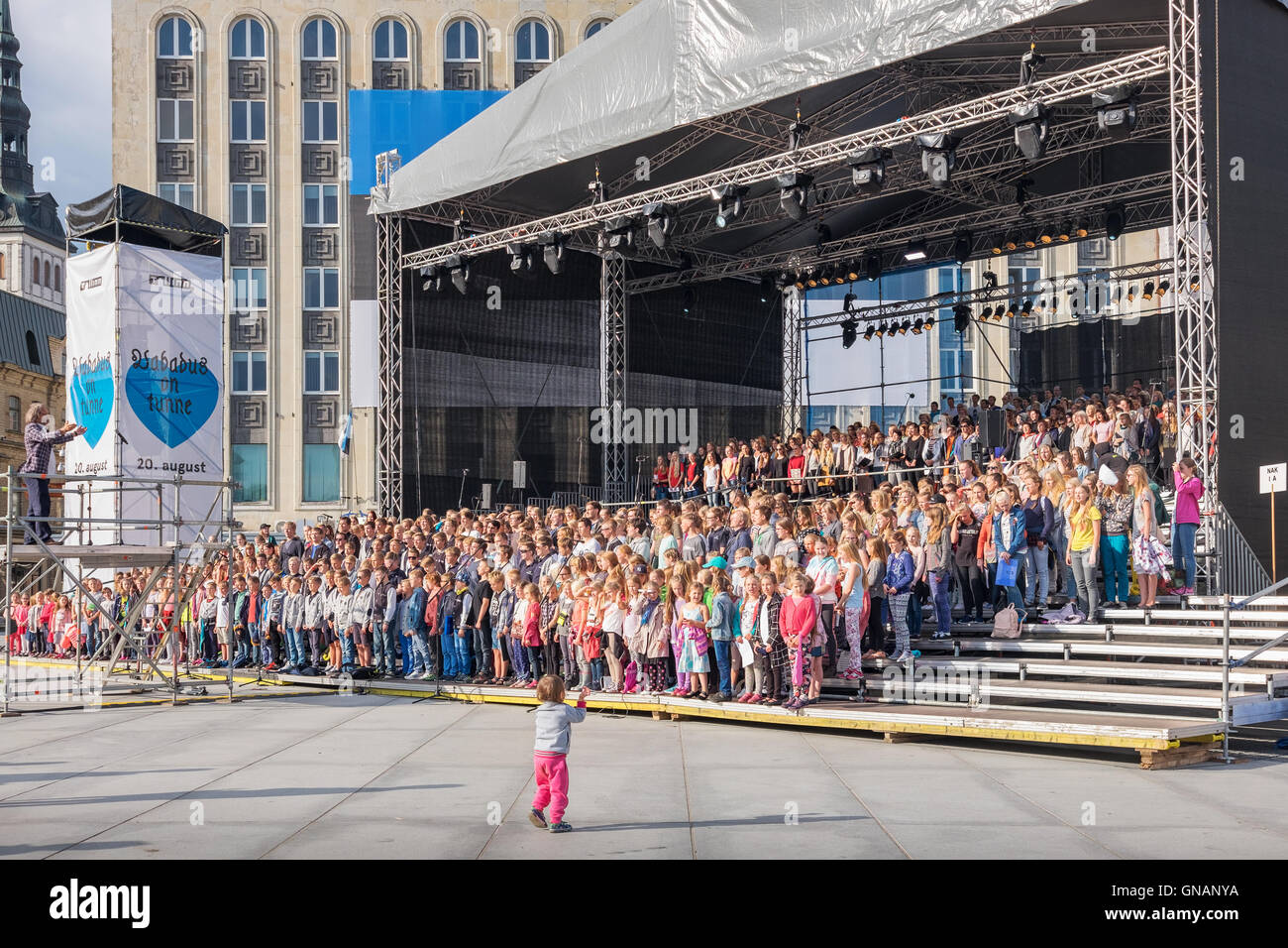 Big choir. Tallinn, Estonia, EU - Stock Image