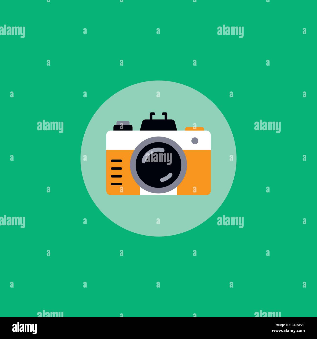 retro photo camera - Stock Vector