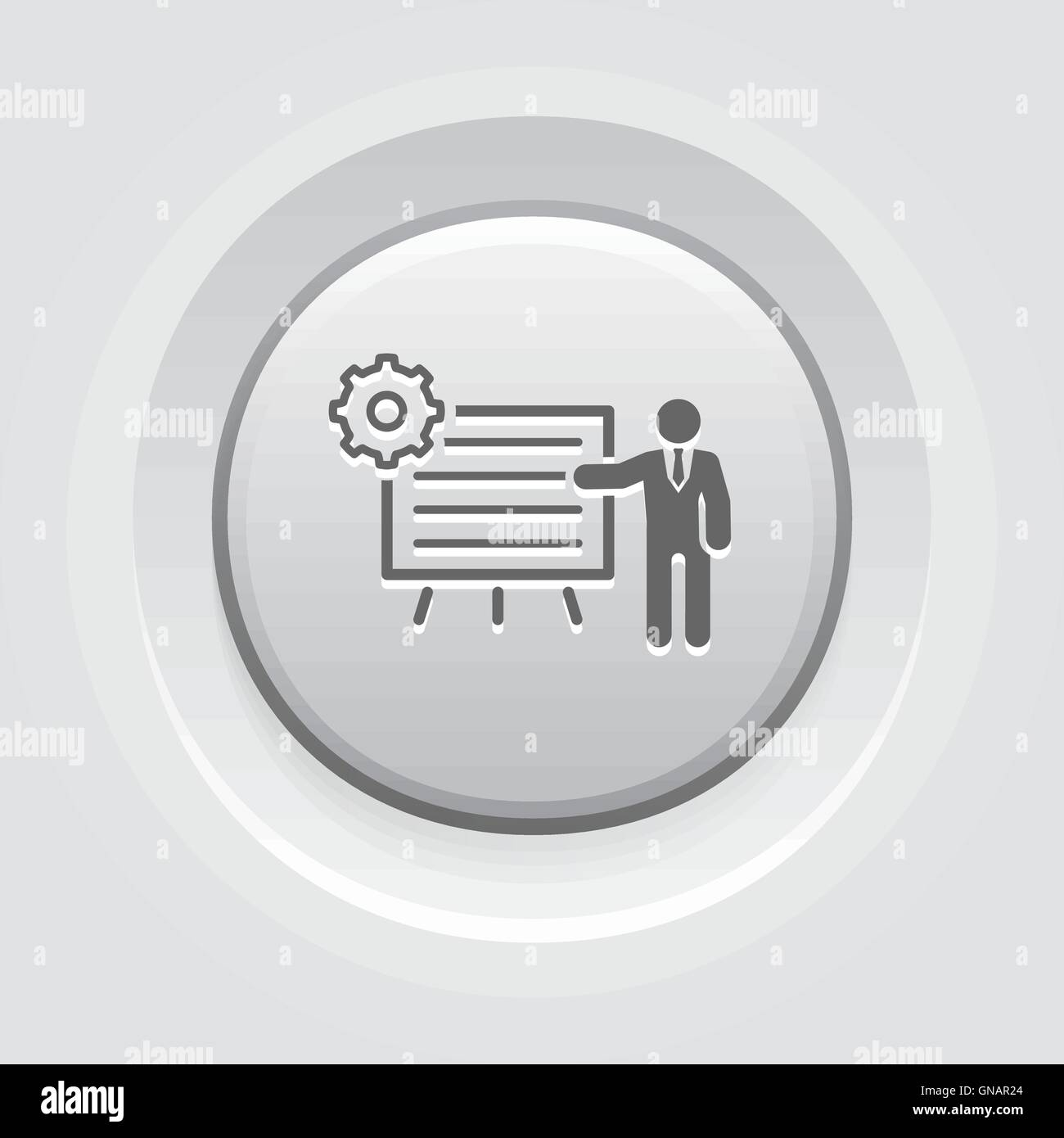 Business Processes Icon - Stock Image