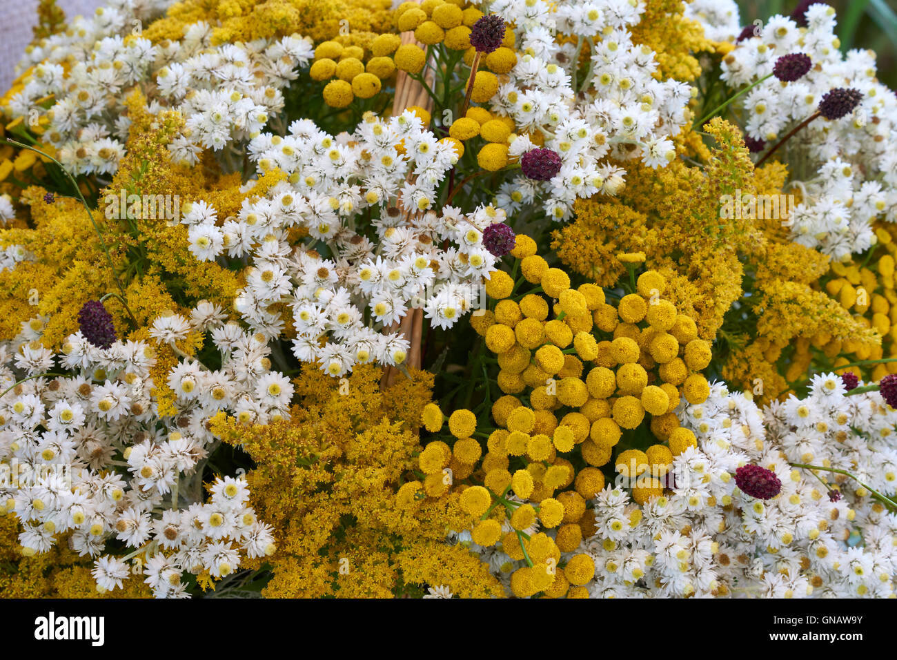 Beautiful Flower Arrangement With Small White And Yellow Flowers