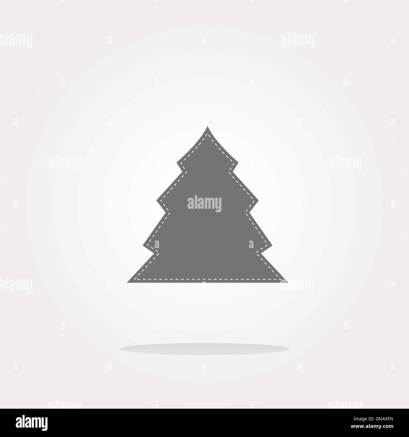 Vector Button With Christmas Tree On It Web Icon Art Graphic Icon