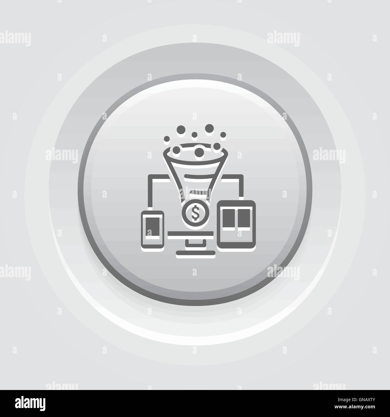 Conversion Rate Optimisation Icon - Stock Image