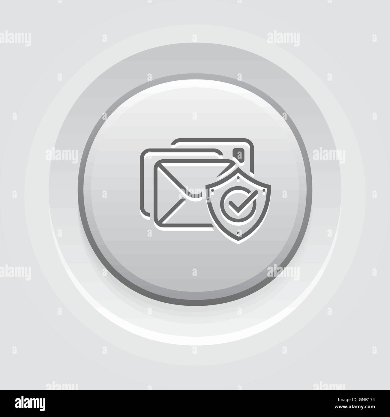 E-mail Protection Icon - Stock Image