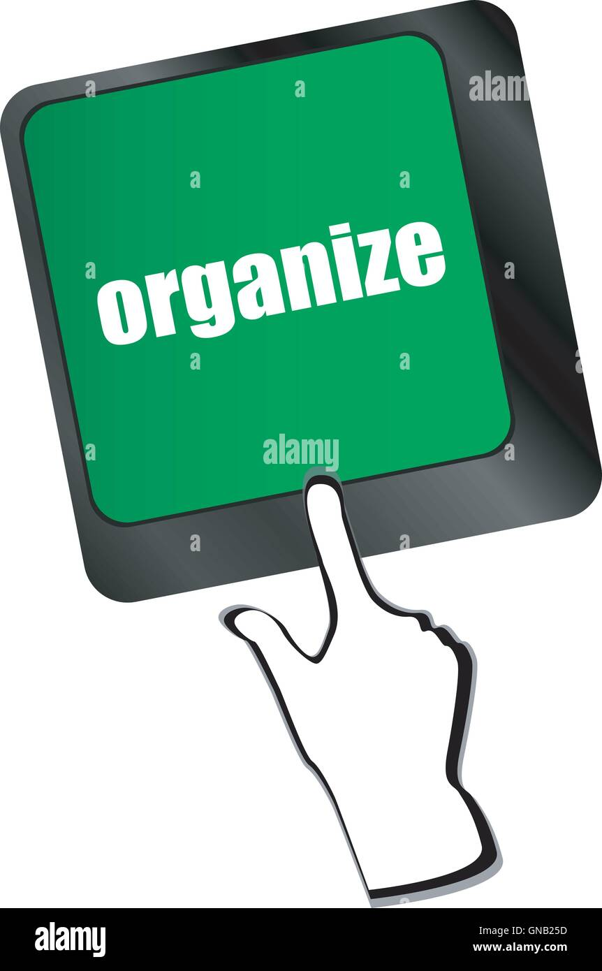 word organize on computer keyboard key - Stock Image