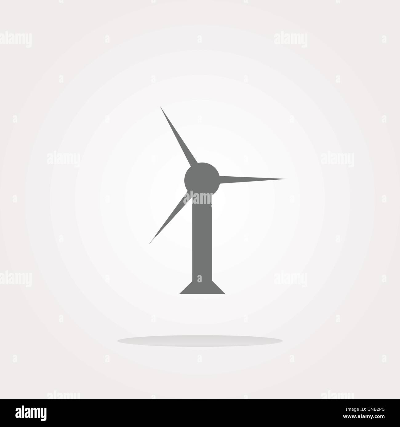 vector wind turbine icon, web button isolated on white - Stock Vector