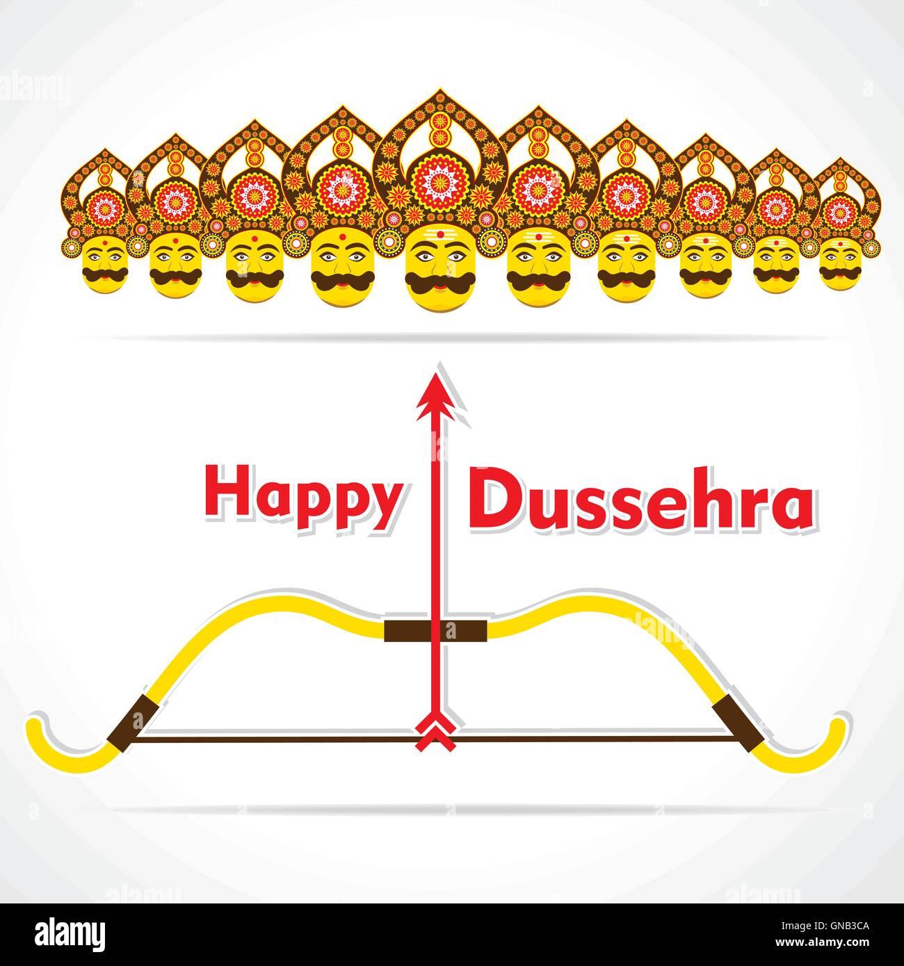 Happy dussehra greeting card or poster design stock vector art happy dussehra greeting card or poster design m4hsunfo