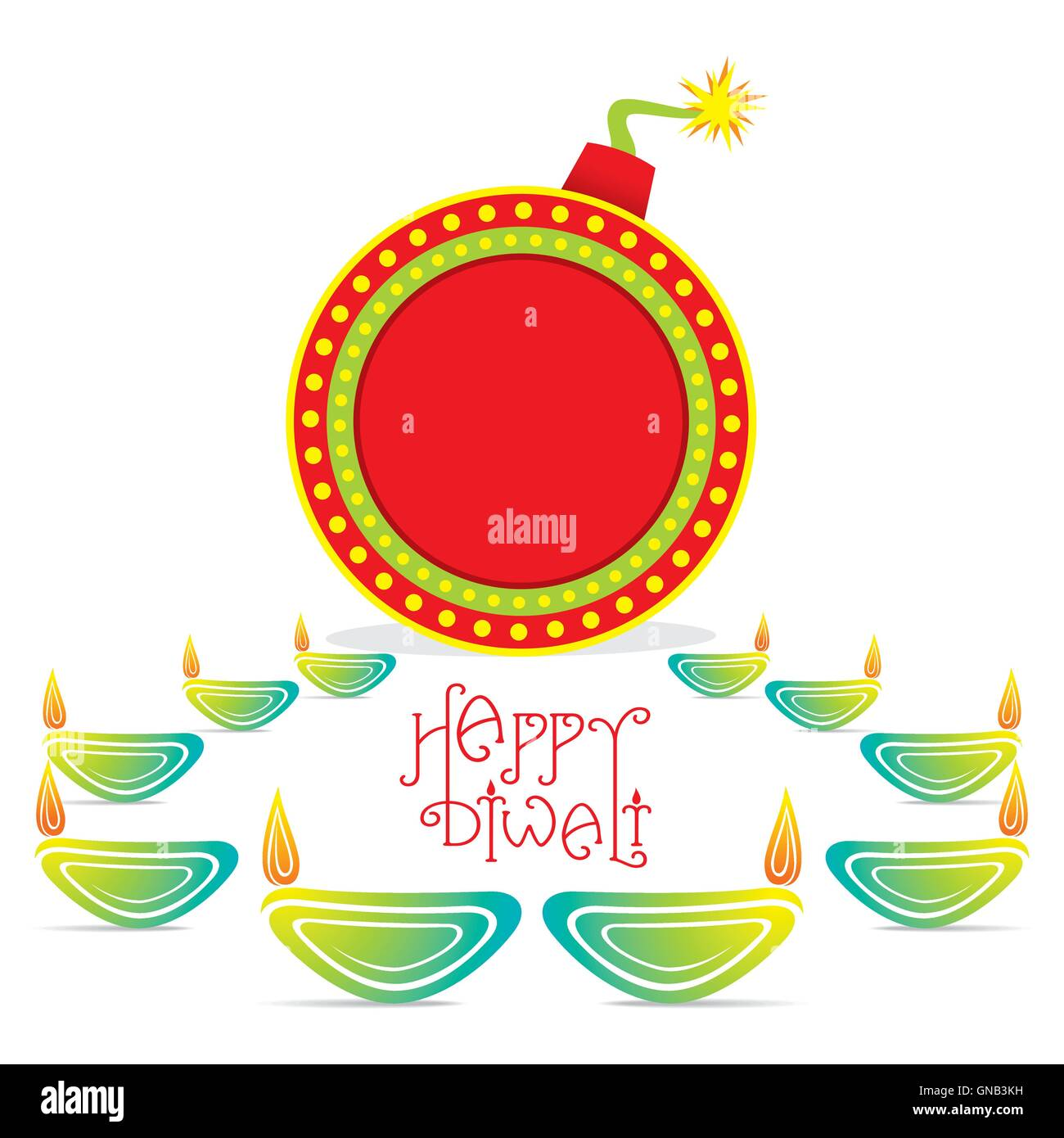 Beautiful Happy Diwali Vector Background Cut Out Stock Images