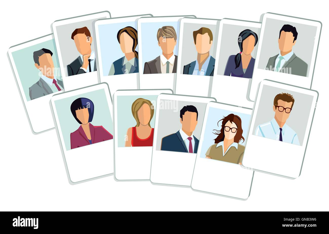 Businessmen and businesswomen application - Stock Image