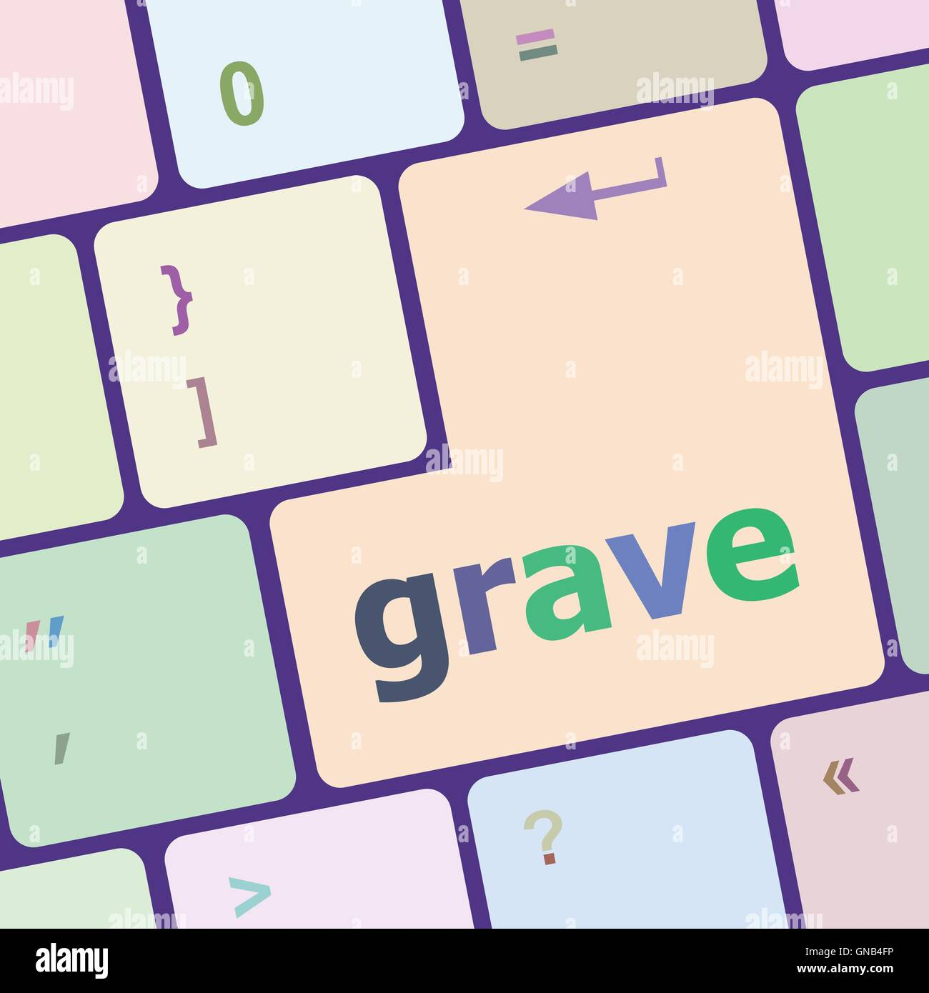 grave button on computer pc keyboard key vector illustration - Stock Vector