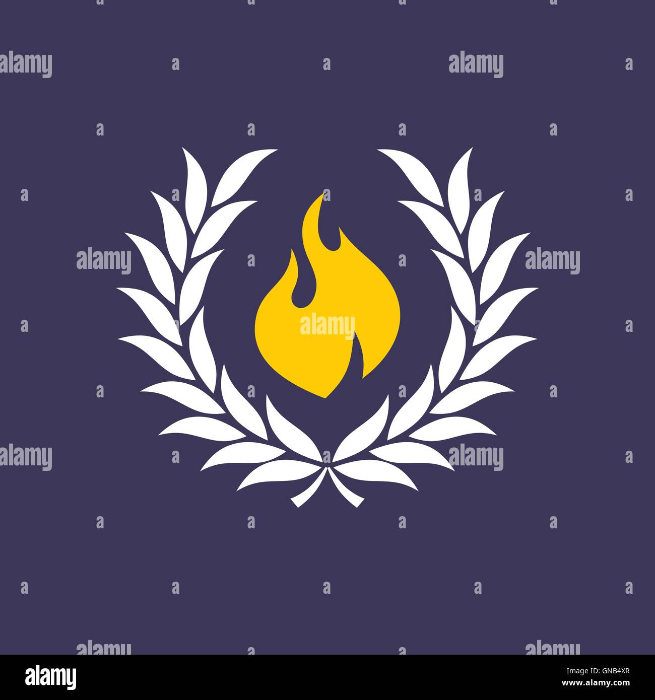wreath with fire - Stock Image