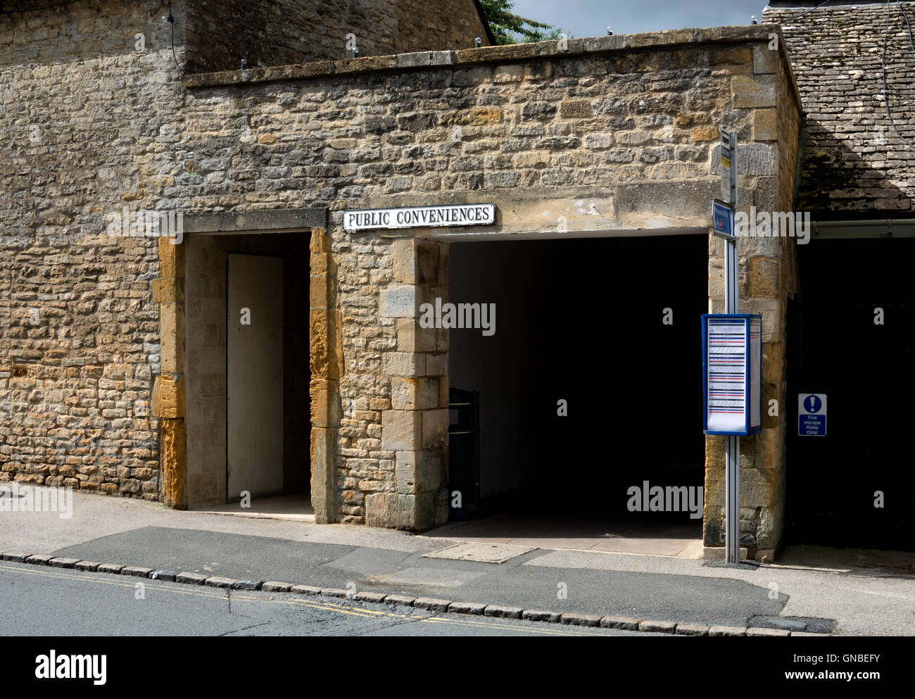 Public toilets, Stow-on-the-Wold, Gloucestershire, England, UK - Stock Image