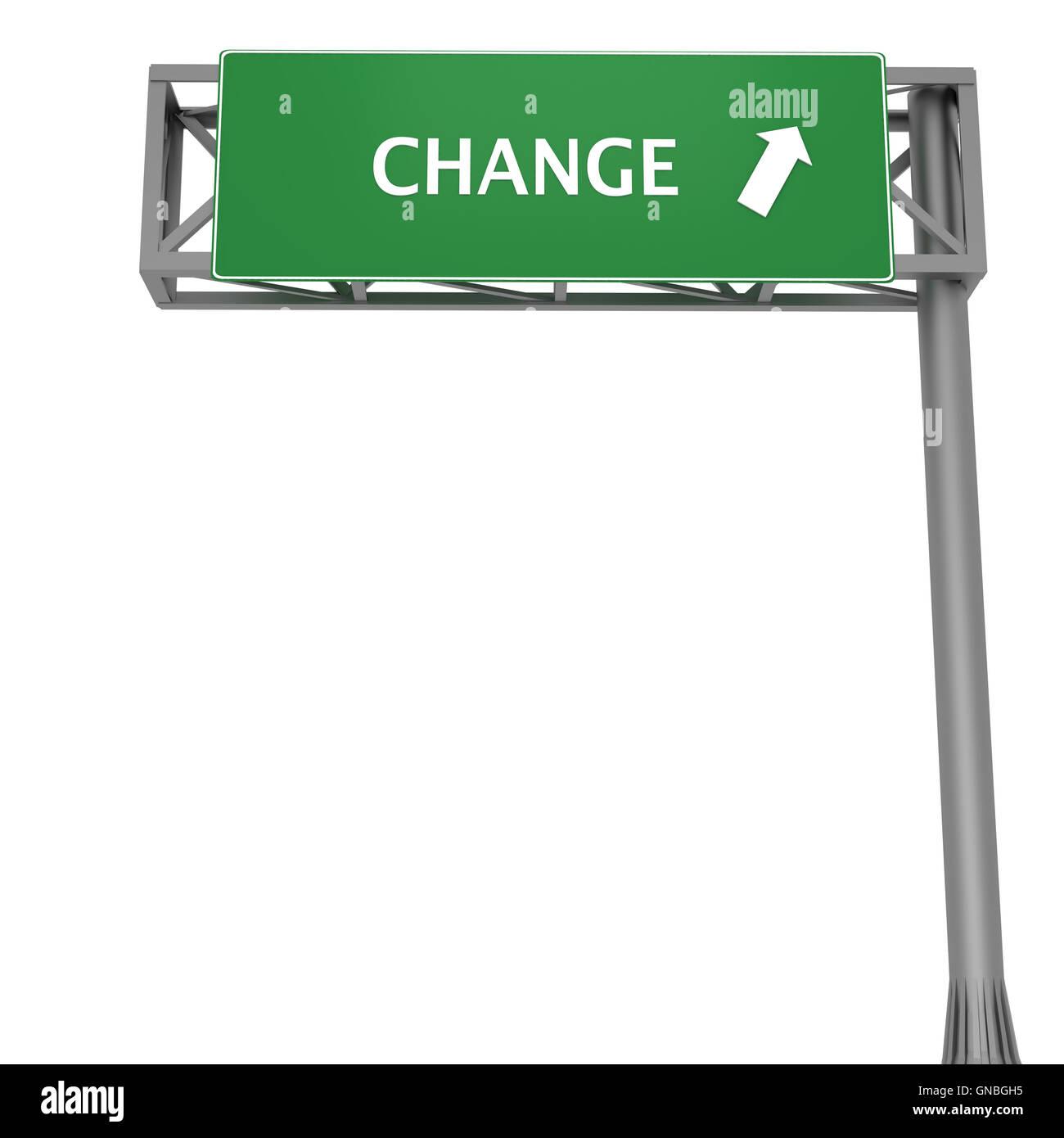 Change signboard - Stock Image