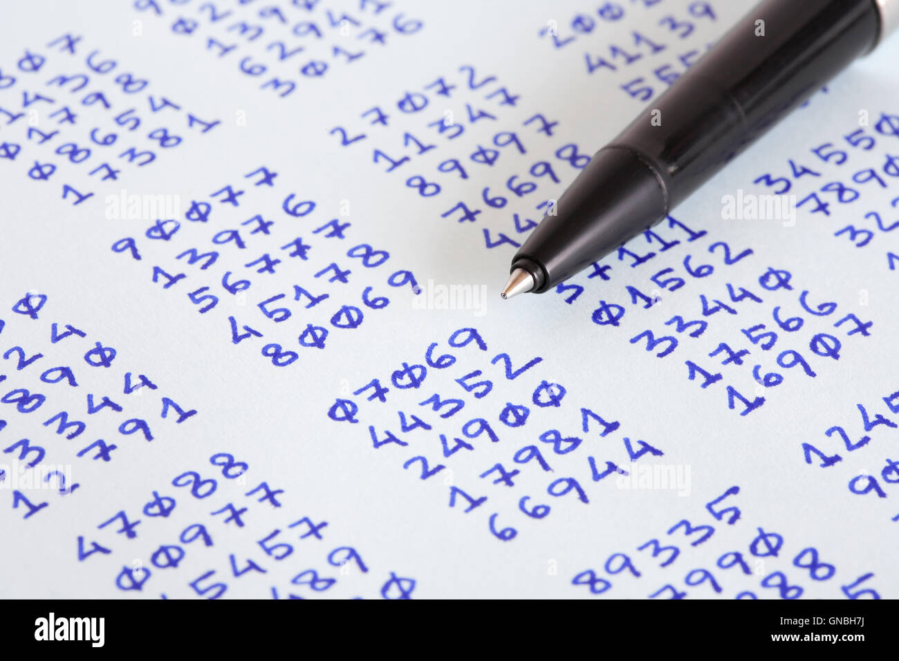 Pen And Ciphertext Stock Photo
