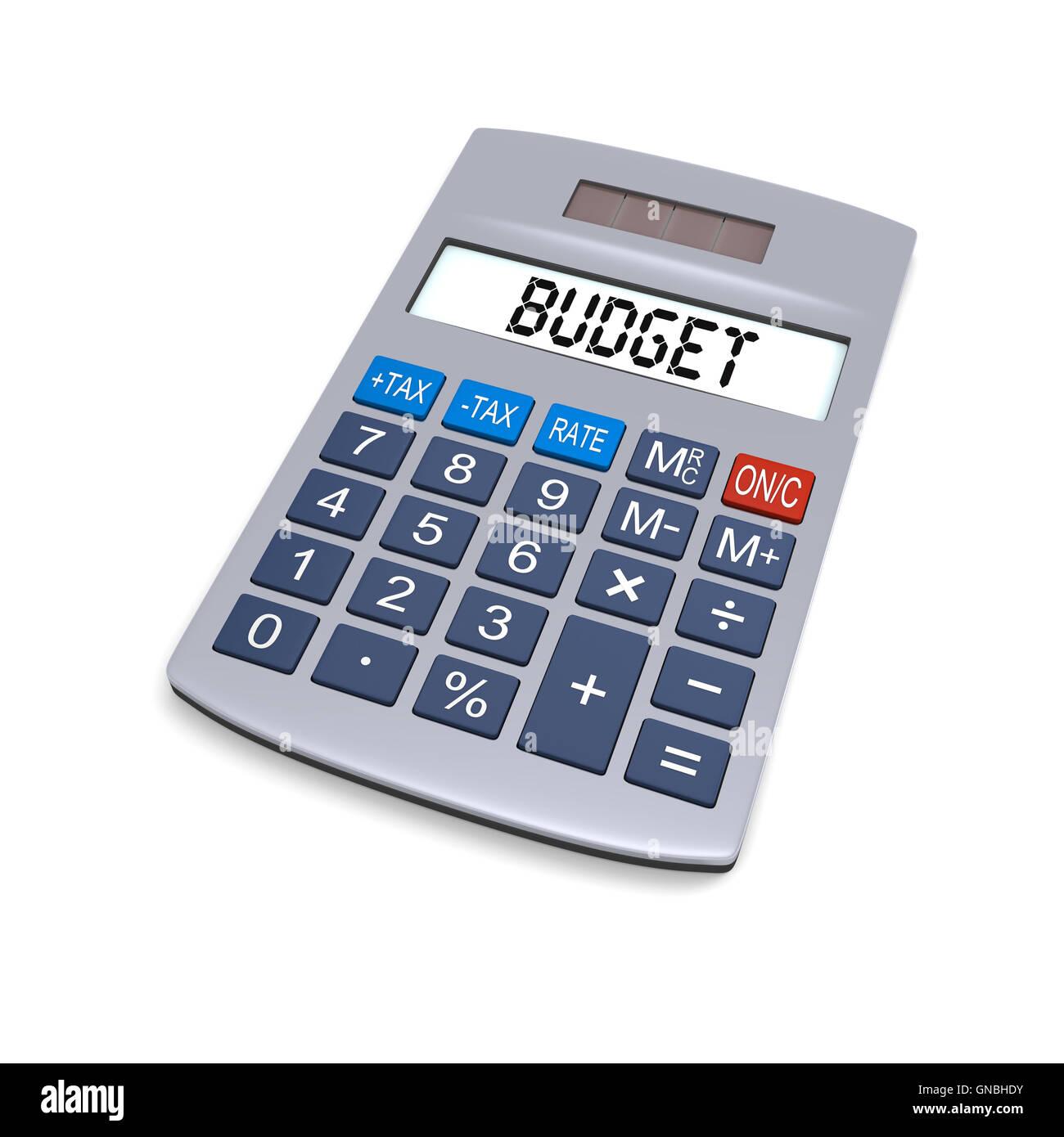 Budget calculator - Stock Image