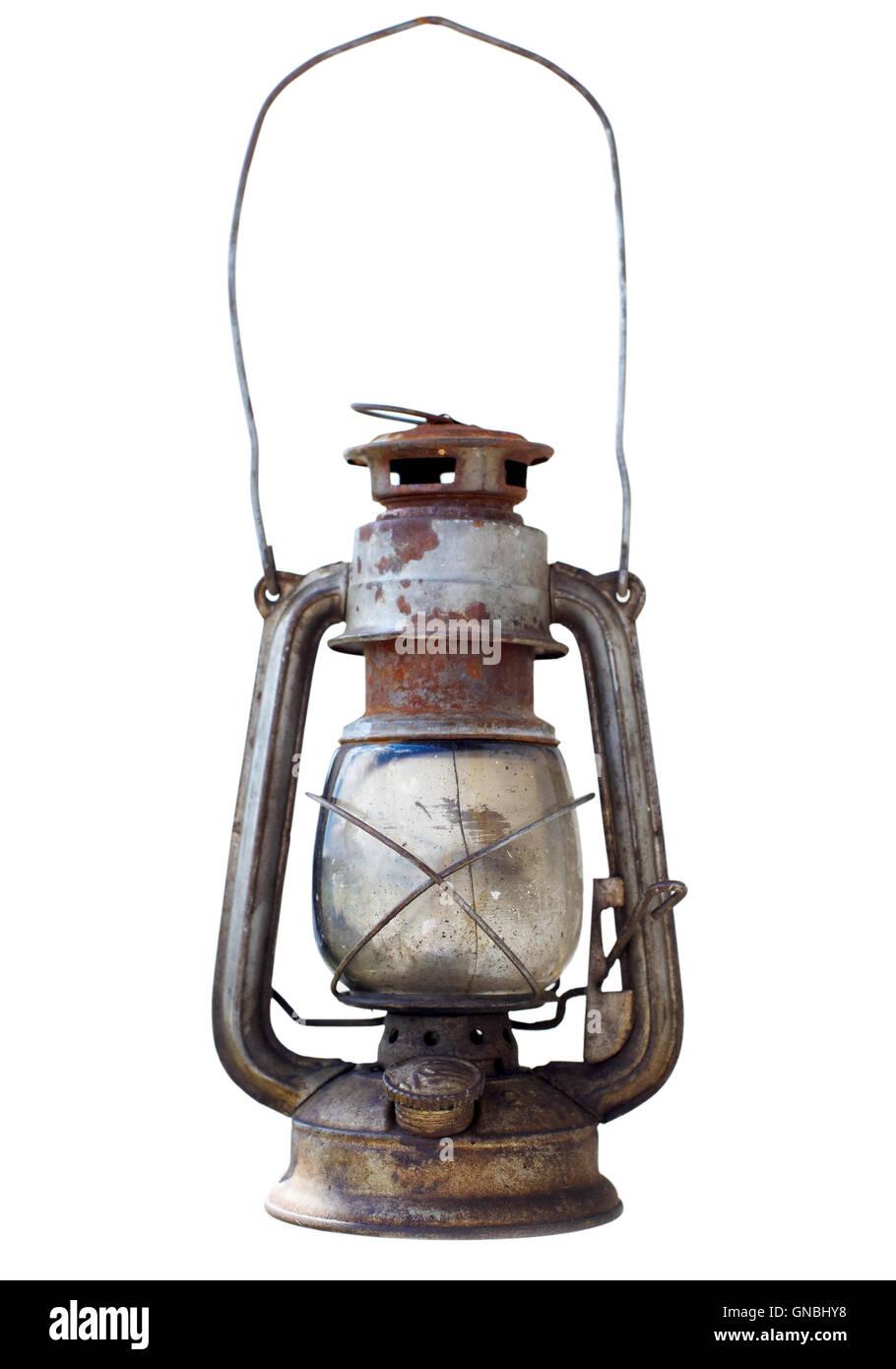 Old kerosene lantern - Stock Image
