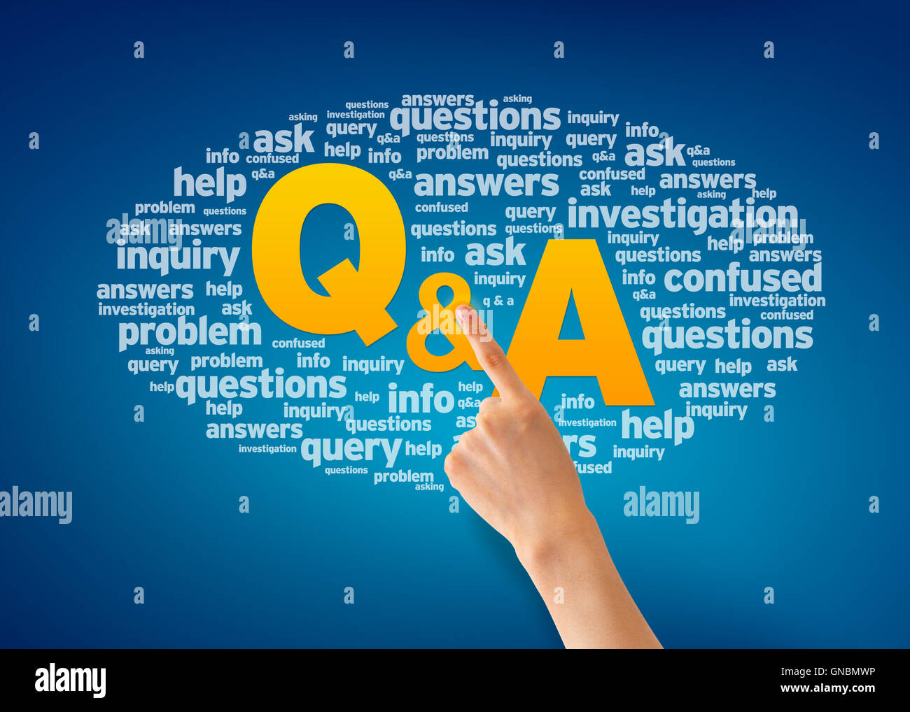 Questions and Answers - Stock Image