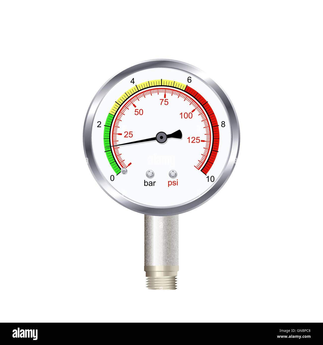 realistic manometer isolated on white background. Vector illustration. - Stock Vector