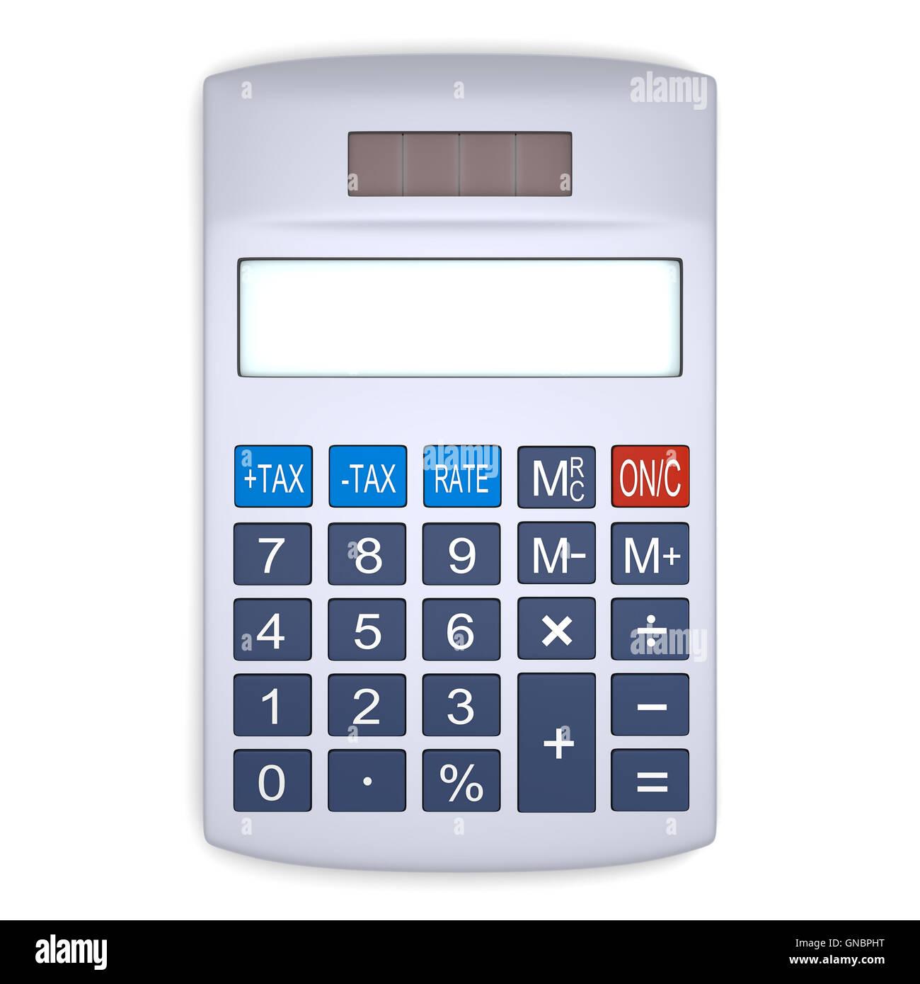Silver calculator - Stock Image