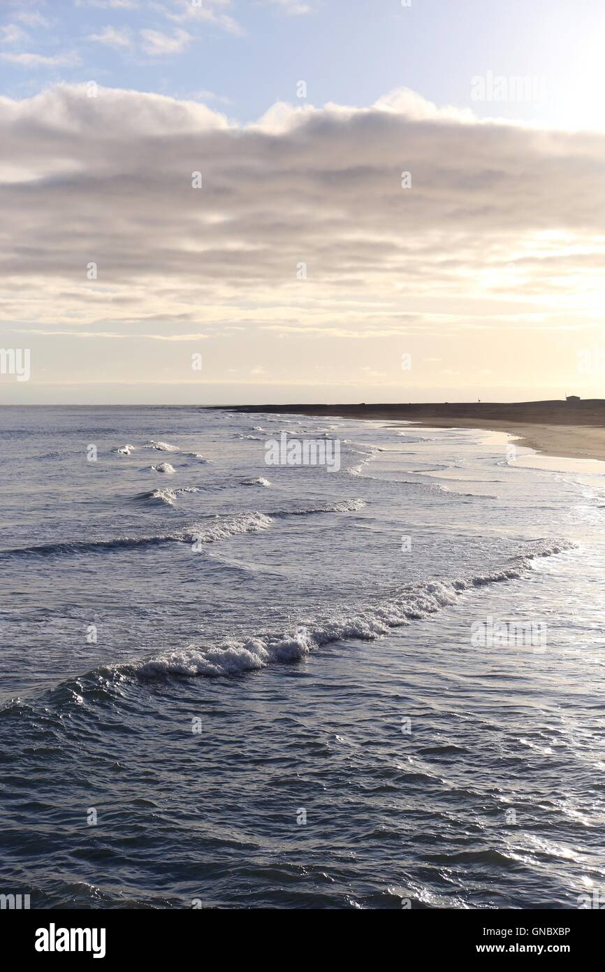 small waves in icelandic sea - Stock Image