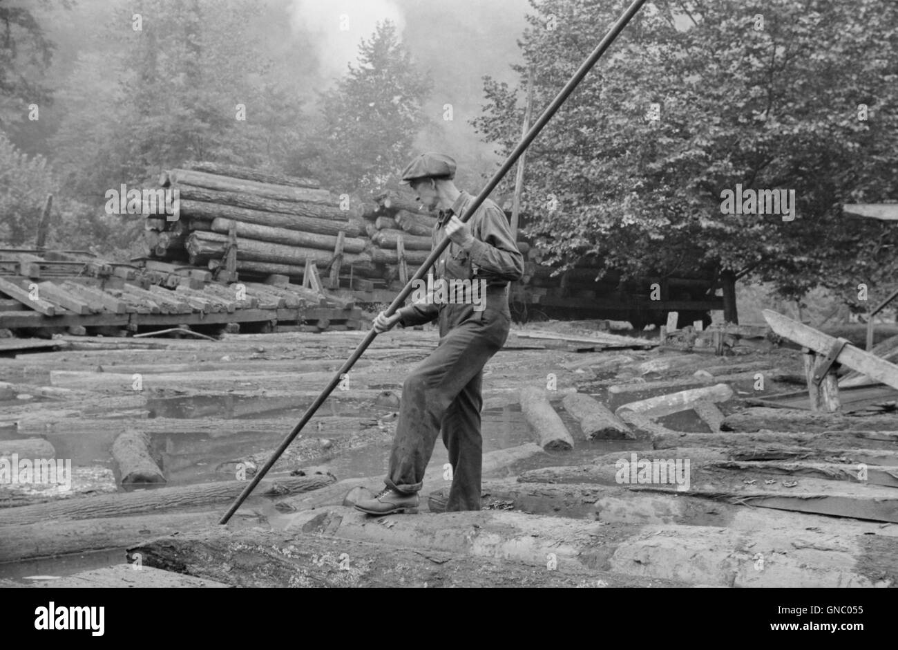 Logger Black and White Stock Photos & Images - Alamy