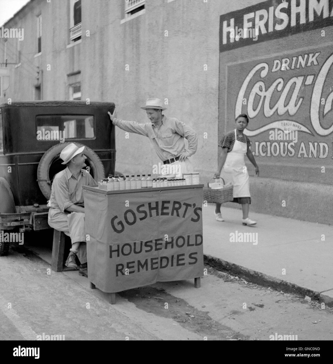 Street Vendor Black and White Stock Photos & Images - Alamy