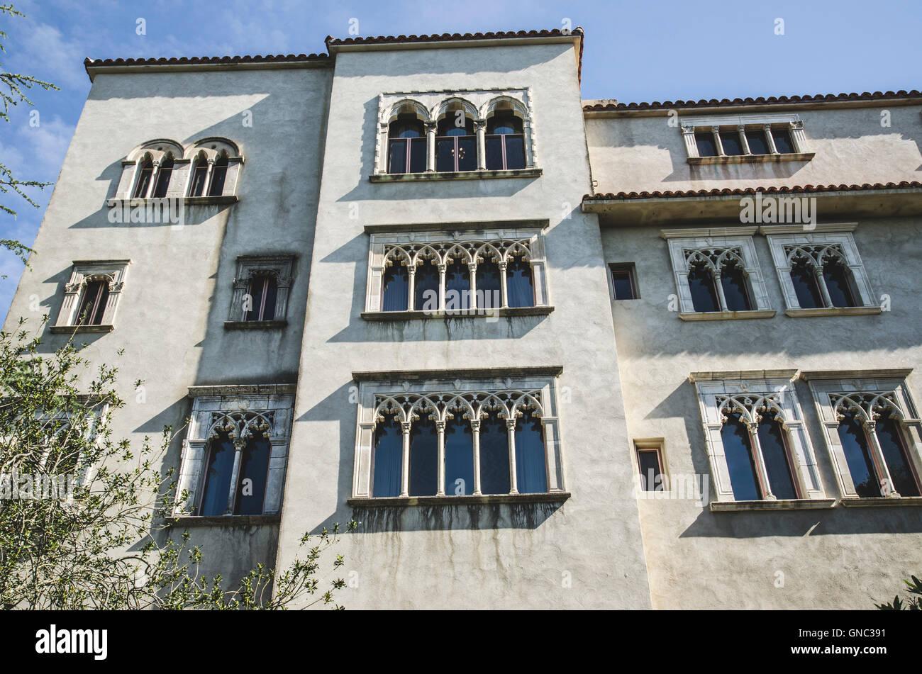 Heart Castle Detail, San Simeon, California, USA - Stock Image