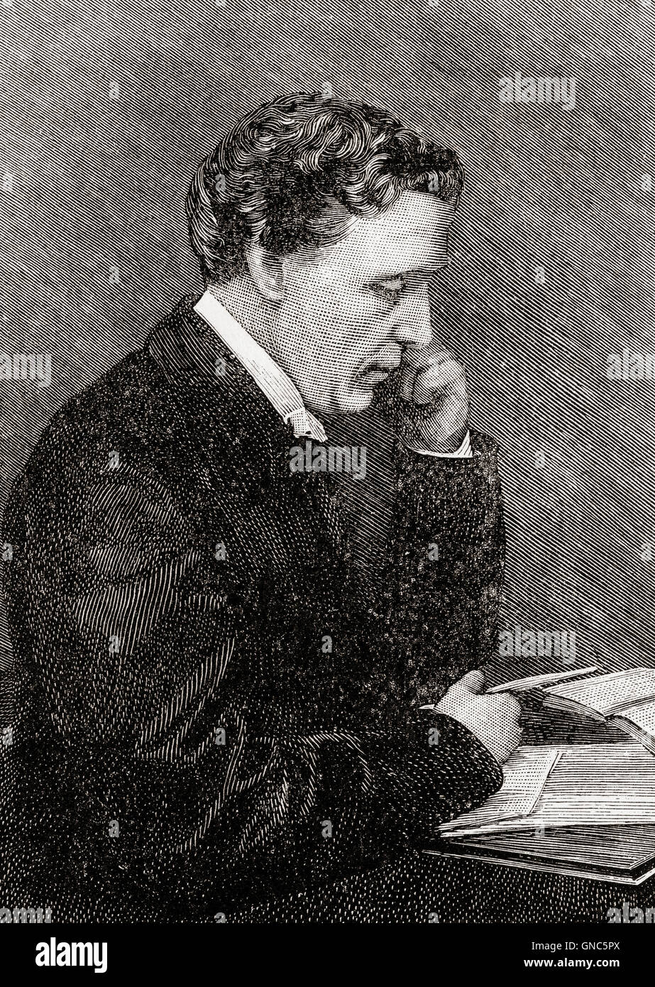 Charles Lutwidge Dodgson, 1832 – 1898, better known by his pen name Lewis Carroll.  English writer, mathematician, - Stock Image