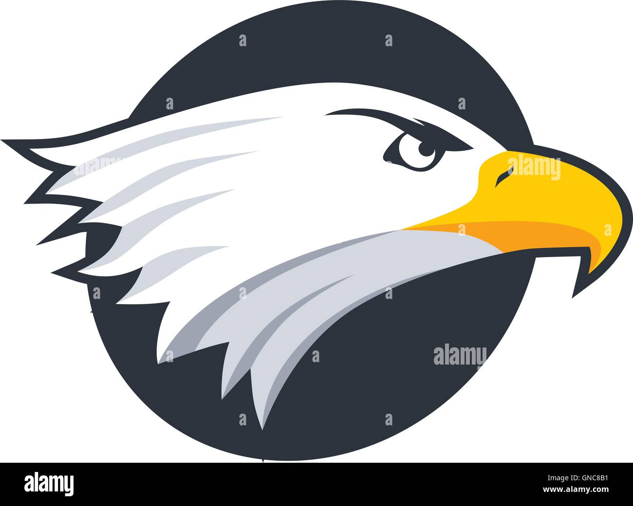 bold eagle template stock vector art illustration vector image