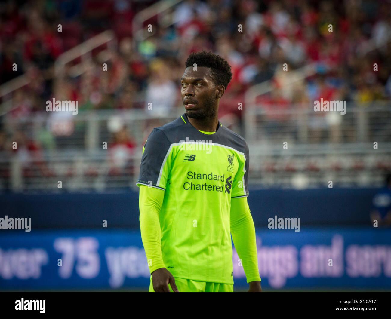 Liverpool FC and England International Forward Daniel Sturridge - Stock Image