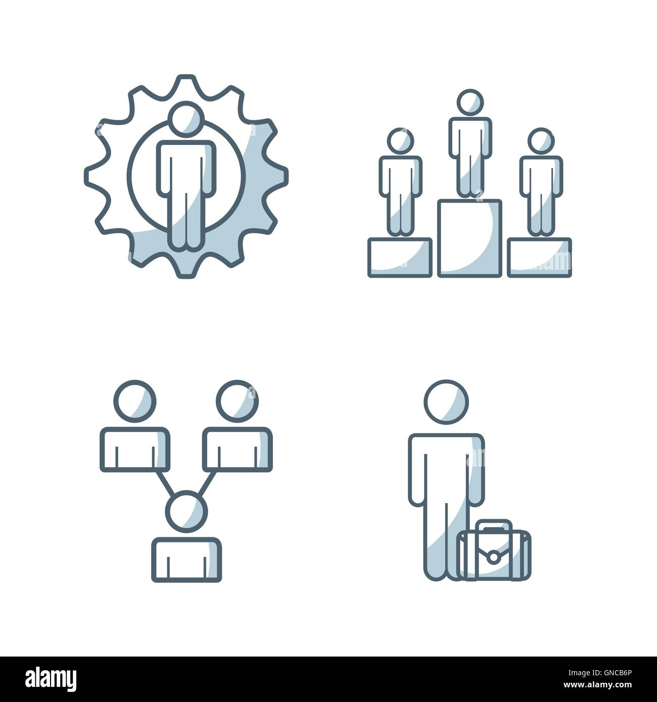team work concept isolated icon - Stock Image