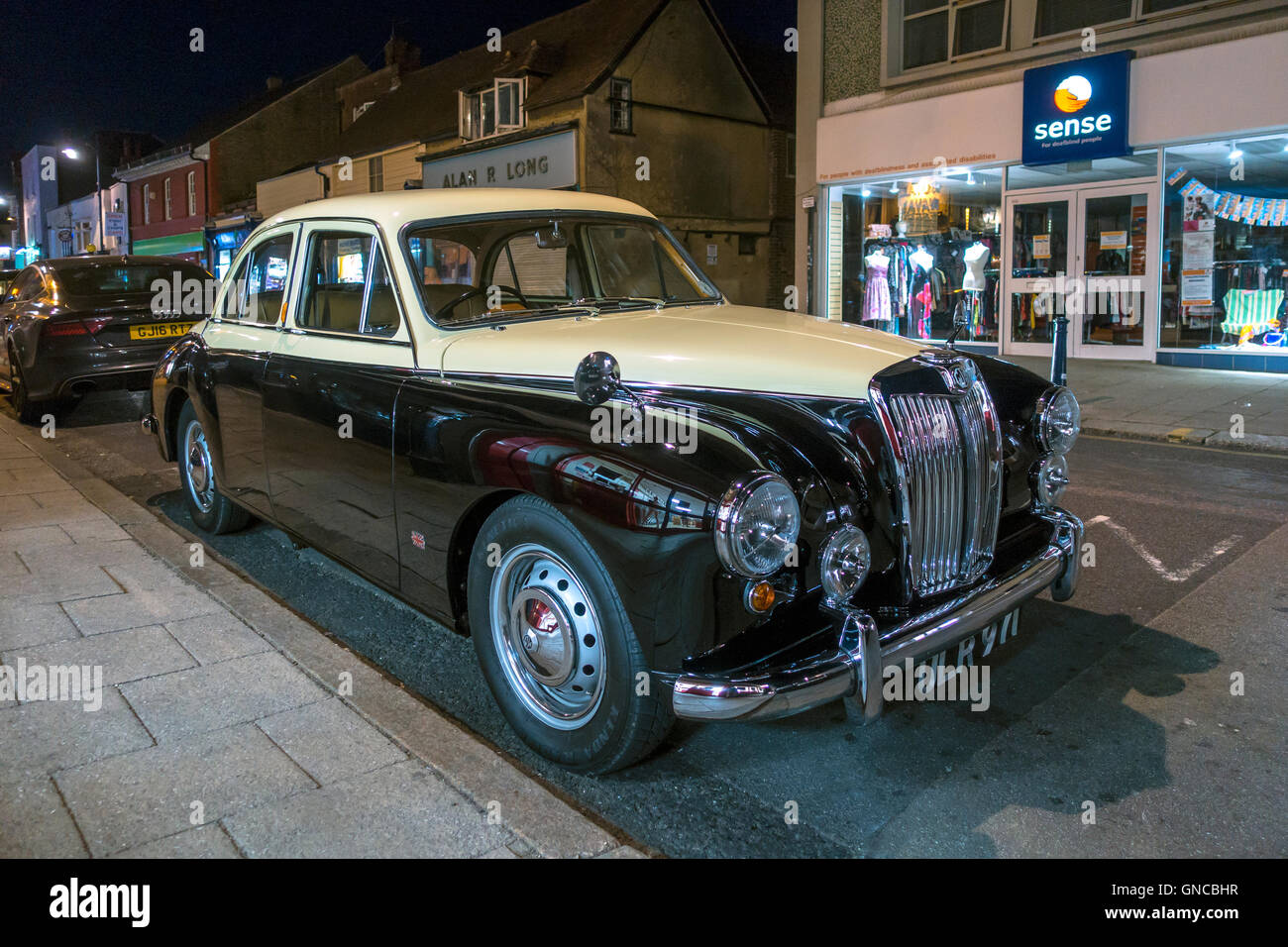 Vintage MG Magnette Saloon Car Two Tone - Stock Image