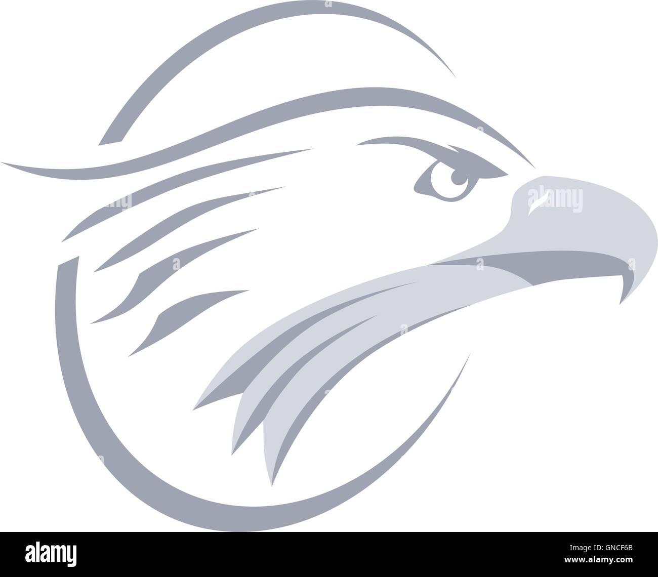 bold eagle template stock vector art illustration vector image