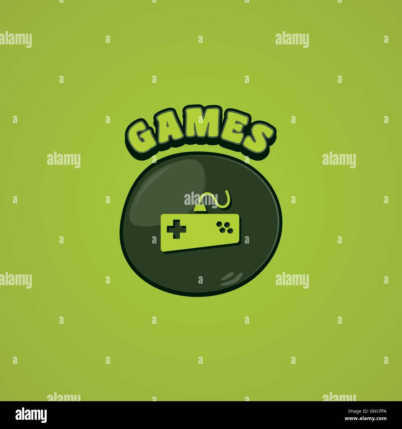 game console joystick - Stock Image